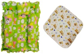 Fun Baby New Born Baby Bedding Set with baby Wrapper, Multi Color