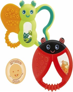 Chicco Funny Relax Teether 6M+ 1Pz (Combo- Butterfly Ladybird)