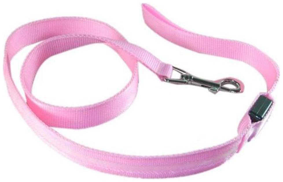 Futaba Nylon Led Leash Dog Safety Glow Rope   120Cm   Pink Pack of 1