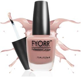 FYORR Barely There Long Lasting Nail Paint(Nude-Color)15ml