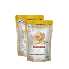 FZYEZY Natural Freeze Dried Banana Fruit for Kids and Adults | 50 g ( Pack of 2 )