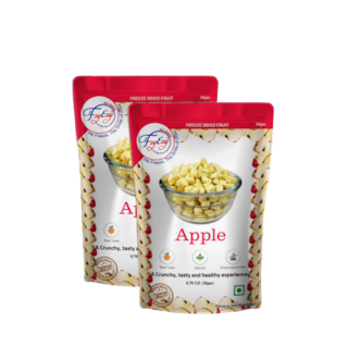 FZYEZY Natural Freeze Dried Apple Fruit for Kids and Adults   50 g ( Pack of 2 )