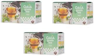 Gaia Green Tea Tulsi 25 Bags (Pack of 3)