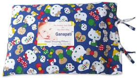 Ganapati Mustard Seed Pillow For New Born Baby/Head Shaping Pillow (Pack Of 1) Blue