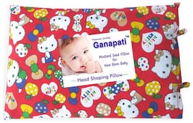 Ganapati Mustard Pillow For Baby (Sarso) Head Shaping Pillow For New Born Babies (Pack Of 1) Red