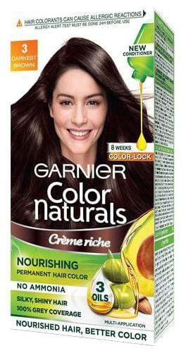 Garnier Color Naturals - Shade 3  Darkest Brown 105.6 g