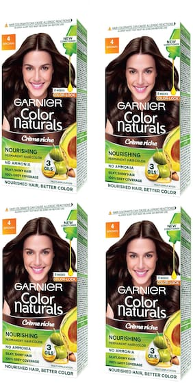 Garnier Color Naturals Cream Hair Color Shade 4 Big Pack Save Rs 30 Pack of 4