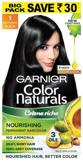 Garnier Color Naturals Cream Hair Color Shade 1 Big Pack Save Rs 30