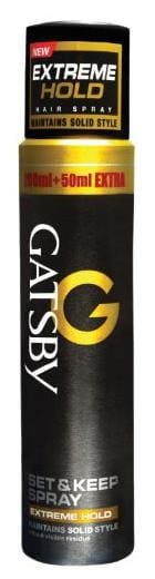 Gatsby Extreme Hold Set And Keep Spray Hair Styler