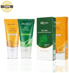 Gemblue Biocare Honey Face Wash  150ml & Gemblue Biocare Neem Face Wash  150ml Pack Of 2