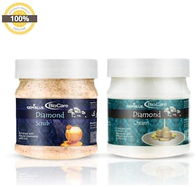 Gemblue Biocare Diamond Scrub 500 ml & Diamond Cream 500 ml (Pack of 2)