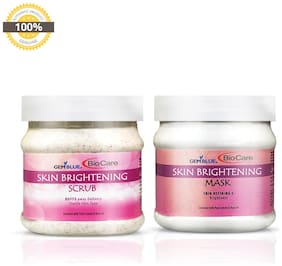 Gemblue Biocare Skin Brightenning Scrub 500 ml & Skin Brightenning Mask 500 ml (Pack of 2)