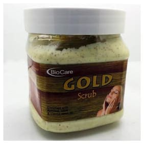 Gemblue Biocare Gold Scrub Enriched With Almond Olive & Carrot Scrub (500 ml)
