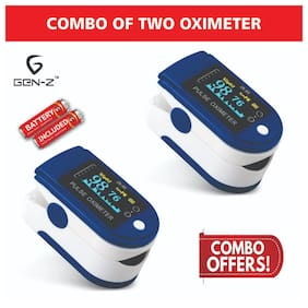 Gen-Z Value Combo of 2 Finger Tip Oximeters with battery (Pack of 2)