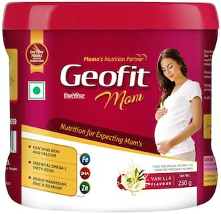 Geofit Mom Protein Powder For Pregnant and Lactating Mothers Pack of 250 g