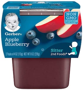 Gerber 2nd Foods for Sitter Apple Blueberry 113g Each (Pack Of 2)