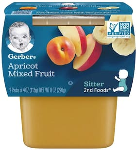 Gerber 2nd Foods for Sitter Apricot Mixed Fruit 113g Each (Pack Of 2)