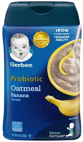 Gerber Probiotic Oatmeal Banana Cereal for Sitter  - 227g(Pack of 1)