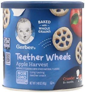 Gerber Teether Wheels for Crawler Apple Harvest 42g (Pack Of 1)
