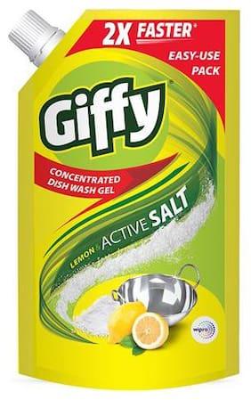 Giffy Dishwash Gel - Lemon & Active Salt 1 L