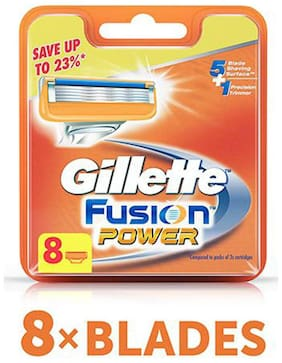 Gillette Blades Fusion  Power Shaving Razor 8 pcs