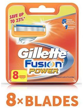Gillette Blades Fusion  Power Shaving Razor 8 pcs
