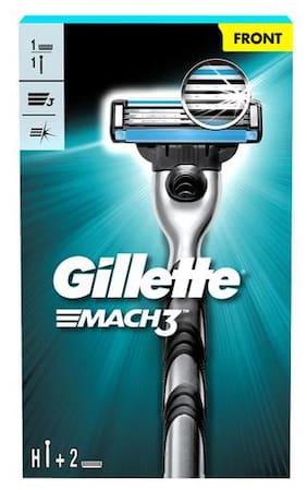 Gillette Gillette Mach 3 Shaving Razor + 1 Shaving Blade/Cartridge 3 pcs