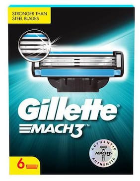 Gillette Mach 3 Shaving Blades 6 pcs