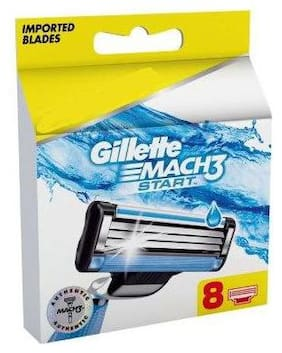 Gillette Mach3 - Start Mens Razor Blades  Cartridge 8 pcs