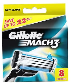 Gillette Mach 3 Shaving Cartridges 8 Pcs