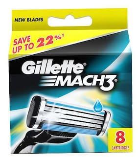 Gillette Mach 3 Shaving Cartridges 8 Pcs