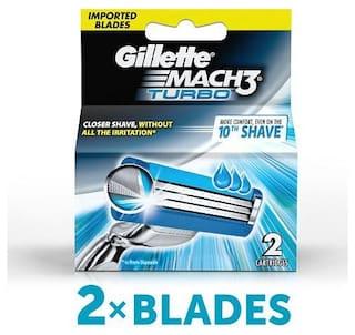 Gillette Mach 3 Turbo Manual Shaving Razor Blades (Cartridge) 2 pcs