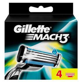 Gillette Mach 3 - Manual Shaving Razor Blades (Cartridge) Pack of 4