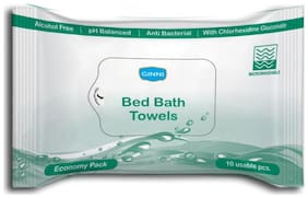 Ginni Bed Bath Towel-For Sponge Bath Economy (Set of 36 Packets) (10 Wet Wipes Per Packet)