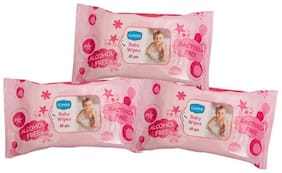 Ginni Soft Baby Wipes (Pack of 3) (60 Wipes Per Pack)