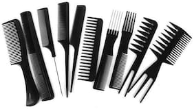 Gjshop StyleWell Professional Different Hair Combs Set Good For Barber Salon Hair Styling Hairdressing Gj004 (Pack of 10)