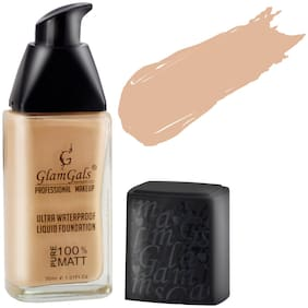 GlamGals Ultra Water Proof Liquid Foundation Rose Ivory 30 ml
