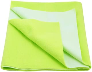 Glassiano Waterproof Baby Bed Protector Dry Sheet (140x100 CM)Large Size Green