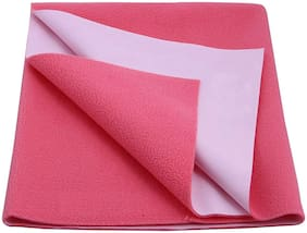 Glassiano Waterproof Baby Bed Protector Dry Sheet (140x100 CM)Large Size Pink