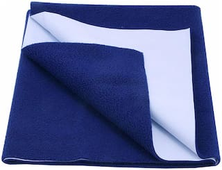 Glassiano Waterproof Baby Bed Protector Dry Sheet (Pack of 1) Blue