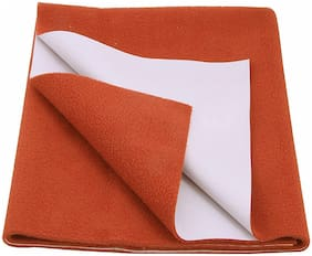 Glassiano Waterproof Baby Bed Protector Dry Sheet (140x100 CM)Large Size Orange
