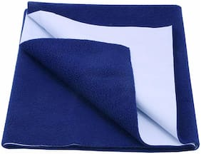 Glassiano Waterproof Baby Bed Protector Dry Sheet (140x100 CM)Large Size Blue