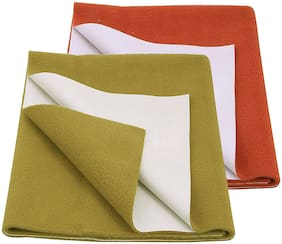Glassiano Waterproof New Born Baby Bed Protector Dry Sheet (Pack of 2) Multi Color