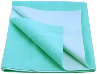 Glassiano Waterproof Baby Bed sheet Protector & Baby Dry Sheet ( Pack of 1) Green