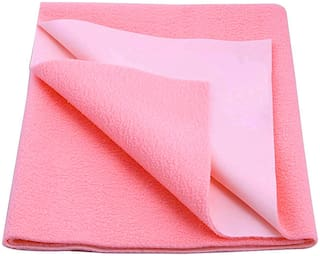 Glassiano Waterproof Baby Bed Protector Dry Sheet (Pack of 1) Pink
