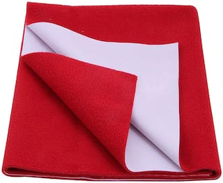 Glassiano Waterproof Baby Bed sheet Protector & Baby Dry Sheet ( Pack of 1) Red