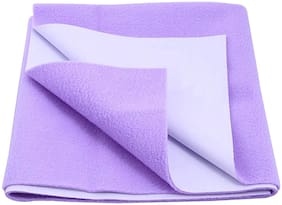 Glassiano Waterproof Baby Bed Protector Dry Sheet (140x100 CM)Large Size Purple
