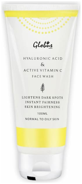 Globus Naturals Anti-Ageing Face Wash with Hyluronic Acid and Vitamin C 100 ml
