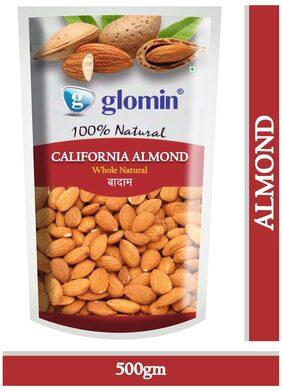 Glomin California Almond Raw 500 G 1Pc