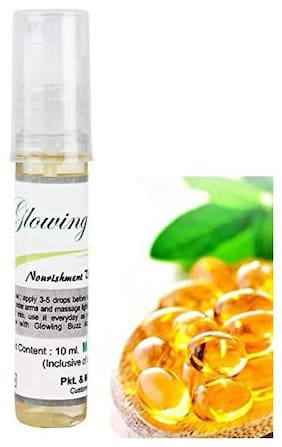 Glowing Buzz Vitamin E Oil 100% Pure and Natural Rich in Vitamin E 10 ml Pack of 1
